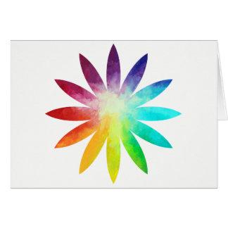 Cartão da flor do arco-íris, cartão do arco-íris