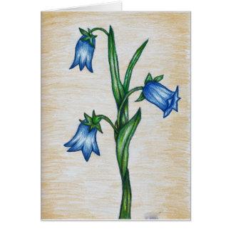 Cartão da flor do Bluebell