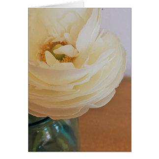 Cartão Da flor fim acima