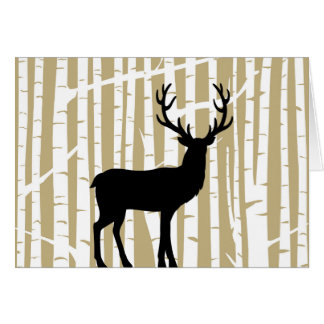 Cartão da floresta da árvore de vidoeiro bege e