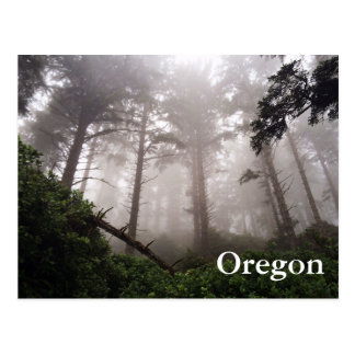 Cartão da floresta de Oregon