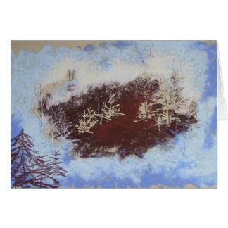 Cartão da floresta do inverno