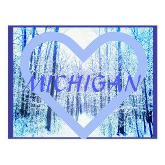 Cartão da floresta do inverno Michigan2