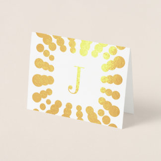 Cartão da folha da inicial do monograma e do