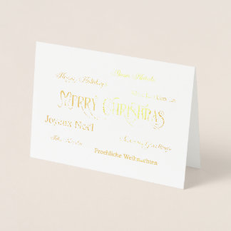 Cartão da folha da nuvem da palavra do Feliz Natal
