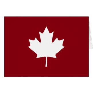 Cartão da folha de bordo de Canadá - vazio para