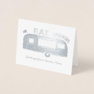 Cartão da folha de prata do caminhão da comida de