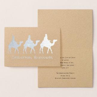Cartão da folha de três bênçãos do Natal dos Magi