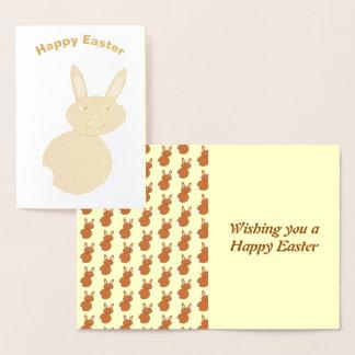 Cartão da folha do coelho de felz pascoa