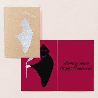 Cartão da folha do Dia das Bruxas do Ceifador