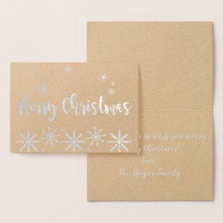 Cartão da folha do Feliz Natal