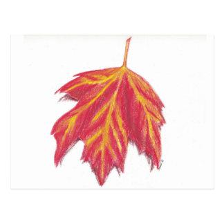 Cartão da folha do outono