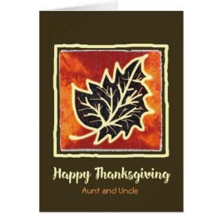 Cartão da folha do outono da acção de graças para