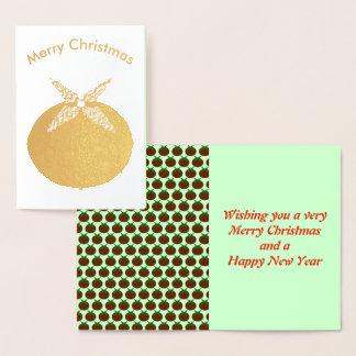 Cartão da folha do pudim do Natal
