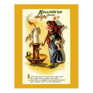 Cartão da fortuna do Dia das Bruxas da