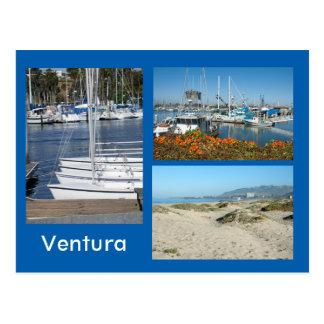 Cartão da foto da costa três de Ventura
