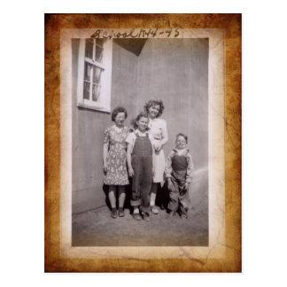 Cartão da foto da escola do vintage