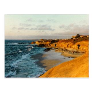 Cartão da foto da praia de San Diego