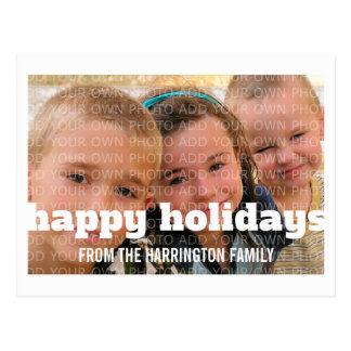 Cartão da foto da tipografia do marfim boas festas