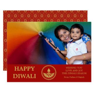 Cartão da foto de Diwali - cor feita sob encomenda