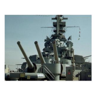 Cartão da foto de Massachusetts da navio de guerra
