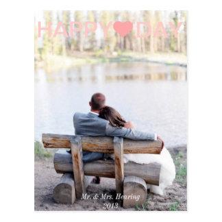 Cartão da foto do cartão do dia dos namorados dos