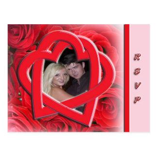 Cartão da foto do casamento RSVP