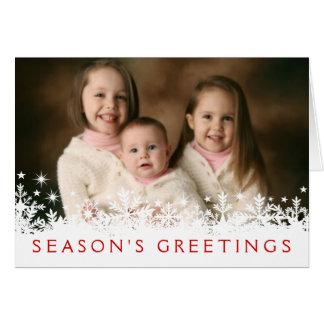 Cartão da foto do Cheio-sangramento do feriado do