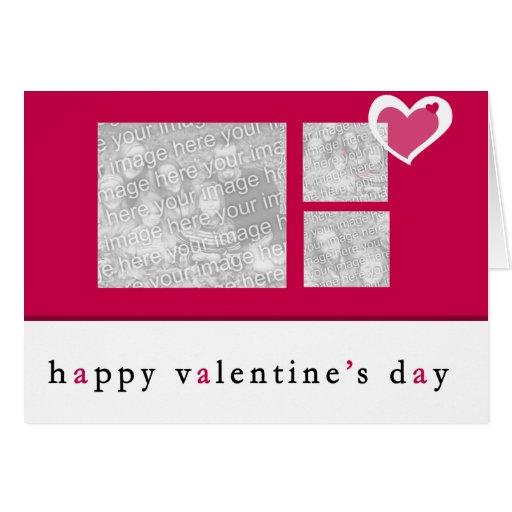 Cartão da foto do dia dos namorados