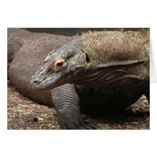Cartão da foto do dragão de Komodo