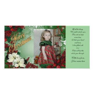 Cartão da foto do Feliz Natal Cartão Com Foto Personalizado