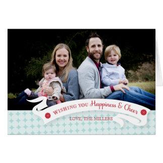 Cartão da foto do feriado da felicidade e do