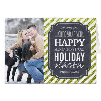 Cartão da foto do feriado do brilho do limão