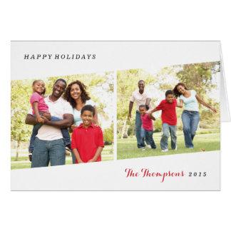 Cartão da foto do feriado do Diptych - baga