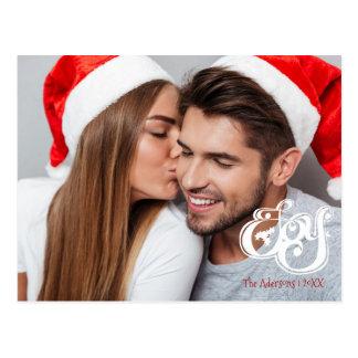 Cartão da foto do feriado do Natal da alegria