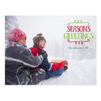 Cartão da foto do feriado do Natal dos