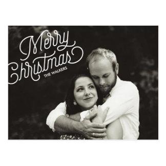 Cartão da foto do feriado do roteiro do Feliz