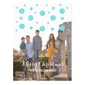 Cartão da foto do feriado dos confetes do brilho cartão postal