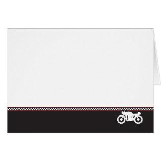 Cartão da foto do piloto do café da motocicleta