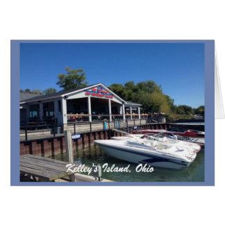 Cartão da foto do porto da ilha de Kelley, Ohio