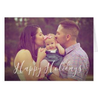 Cartão da foto do retrato da família