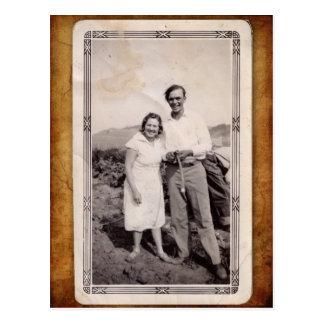 Cartão da foto do vintage