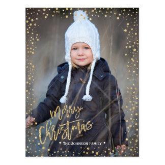 Cartão da foto dos pontos | do ouro do Feliz Natal