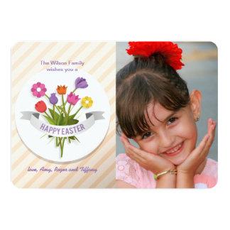 Cartão da foto dos Posies da páscoa Convite 12.7 X 17.78cm