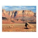 Cartão da fotografia da cor da garganta do deserto cartao postal