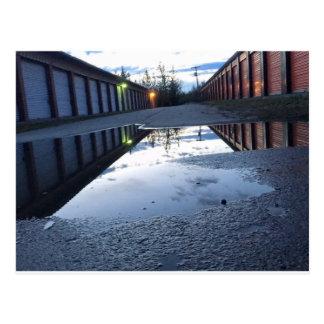 Cartão da fotografia da reflexão