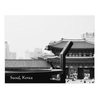cartão da fotografia de seoul Coreia