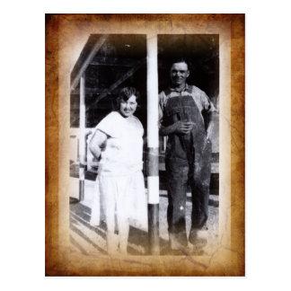 Cartão da fotografia do vintage
