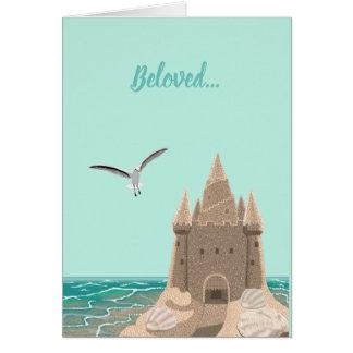 Cartão da gaivota do Sandcastle