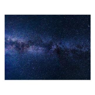 cartão da galáxia da Via Láctea